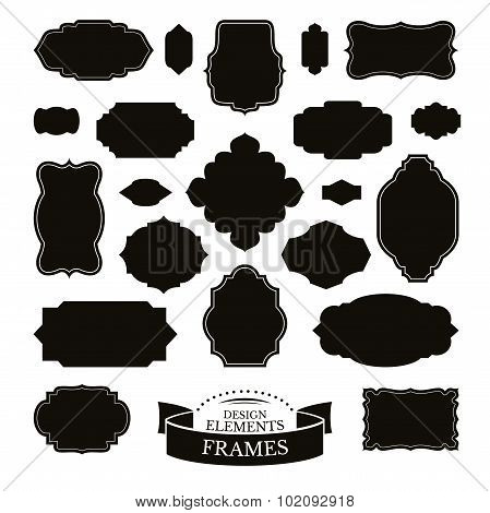 Set Of Different Simple Frames