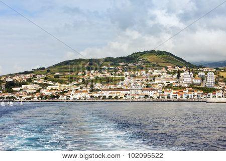 Horta cityscape, Faial island, Azores