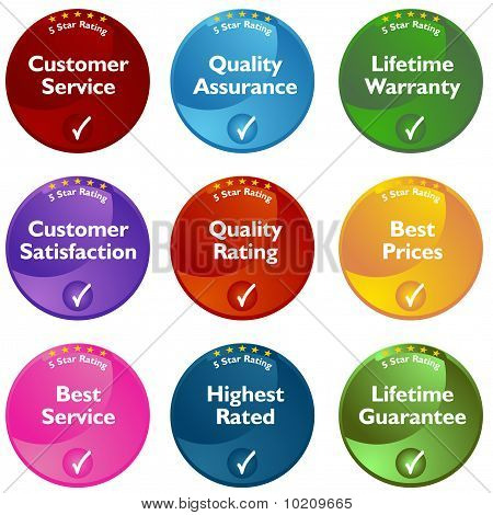 Five Star Rating Buttons