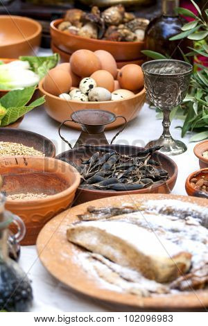 Preparing Ancient Roman Food