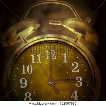 old retro clock concept Insomnia