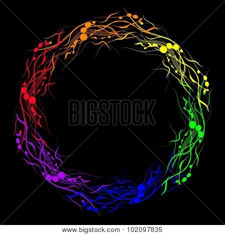 Vector Image Of Six-stripe Rainbow Abstraction