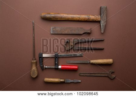 Set Of Old Dirty Tools