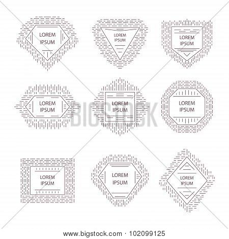 Hipster Logo, Badge, Label Set