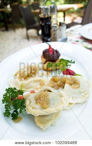 Polish dumplings - pierogi, polish food