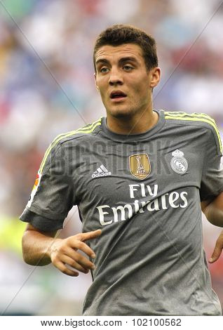 BARCELONA - SEPT, 12: Mateo Kovacic of Real Madrid during a Spanish League match against RCD Espanyol at the Power8 stadium on September 12 2015 in Barcelona Spain