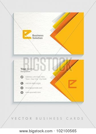 Abstract horizontal business card, visiting card or name card set with space for company informations.