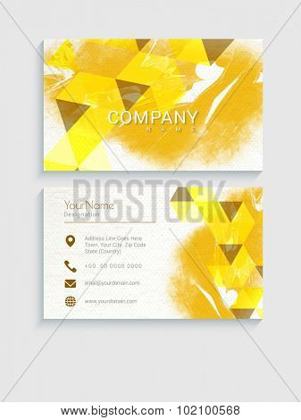 Abstract design and color splash decorated creative horizontal business card, visiting card or name card set for your company.