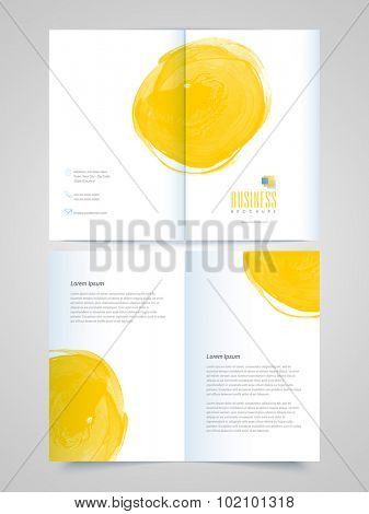 Glossy professional Brochure, Template or Flyer presentation for your Business or Corporate Sector.