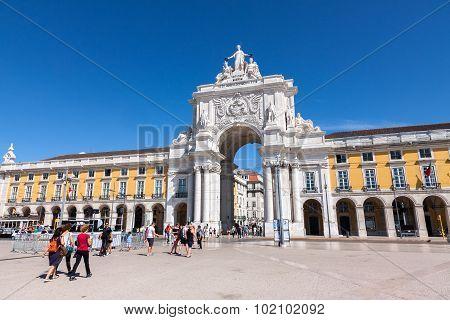 Comerce Square  In Lisbon, Portugal.