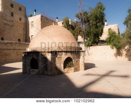 .old Buildings In A Coptic Part Of The Complex Of The Basilica Of The Holy Sepulchre In Jerusalem, A