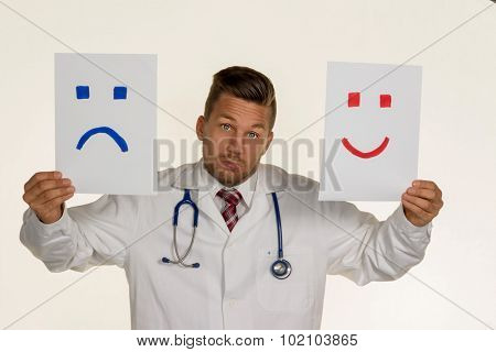 a doctor can not decide if he should laugh or cry