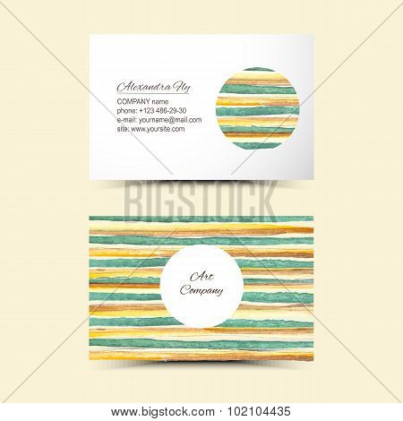 Art business cards