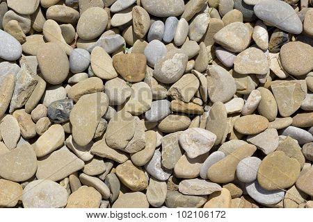 Rounded stones background