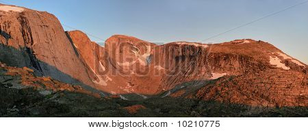 Alpenglow On Cliffs