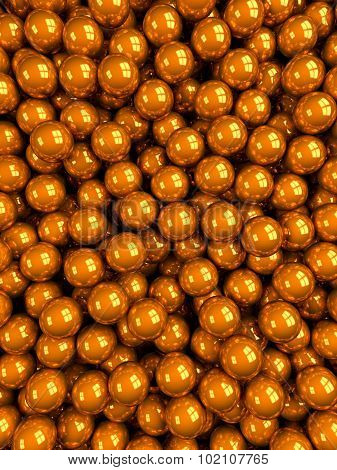Balls Orange Glossy Vertical