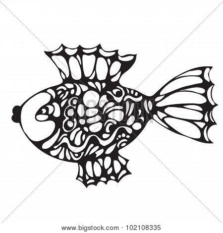 Ornate decorative fish