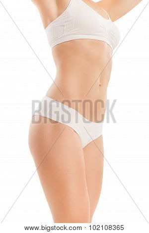 Body Of Woman With Flat Tummy.