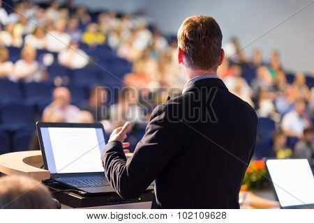 Speaker at Business Conference and Presentation.