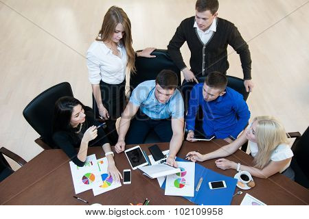 Young Successful Entrepreneurs At A Business Meeting.