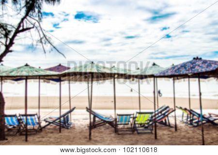 blur beach landscape Cha-amThailand