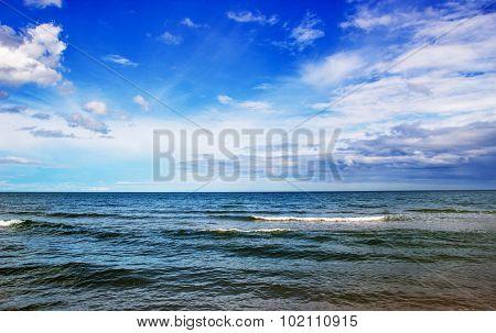 Landscape Cha-am Ocean Sea Horezontal Line