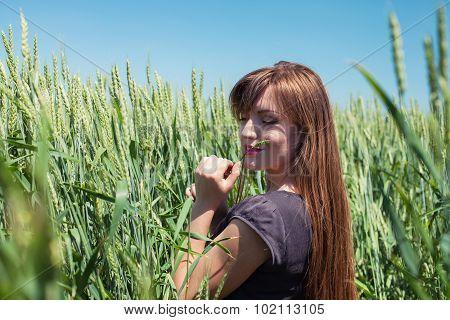 Girl In Wheat