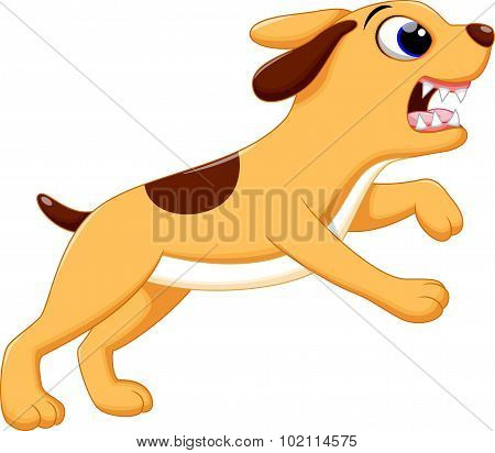 Angry dog cartoon