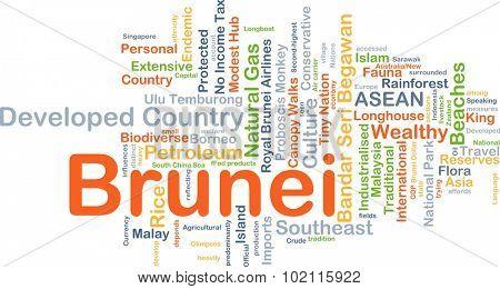 Background concept wordcloud illustration of Brunei