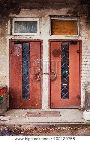 Old Industrial Door
