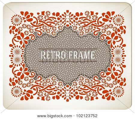 Premium Quality card. Baroque ornaments and floral details. Old paper texture background. Organized by layers.