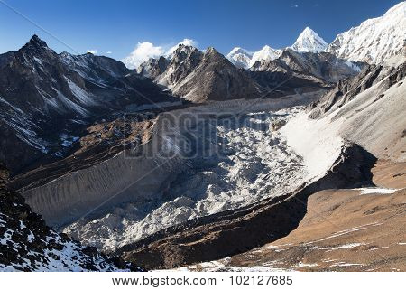 Nuptse Glacier From Chhukhung Ri View Point
