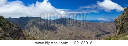 La Gomera, Canary Islands, View From Degollada De Peraza