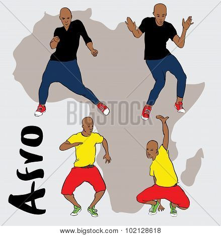 afro house dancing mans