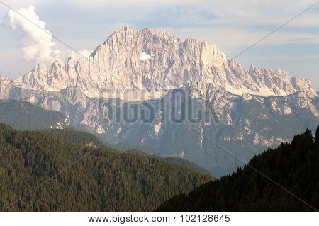 Evening View Of Mount Civetta