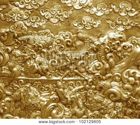 Metal Gold Pattern Crafts Wall