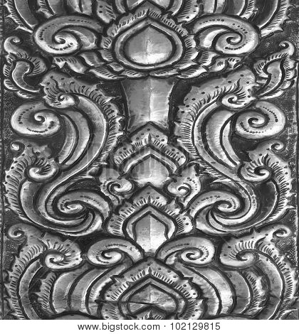 Art And Pattern Of Carving Silverware