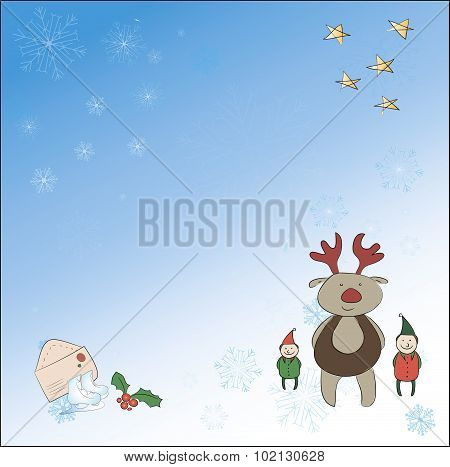 Santa, Snowman, Magic Wand. All Group Members Are Stored On Separate Layers - Can Be Turned Off.