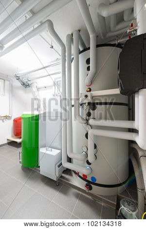 technical combustion chamber central heating room
