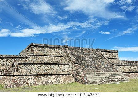 Photo of the Pyramids of Teotihuacan site Mexico.