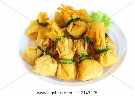 Fried Dumplings Is Vegetarian Food.