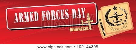 Banner Armed Forces Day Indonesia