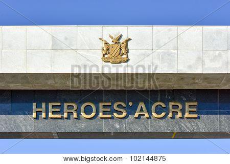 Heroes Acre, Windhoek, Namibia, Africa
