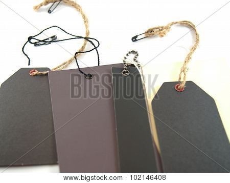 Blank Tags With Hanging String
