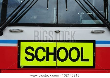 School bus on Waiheke Island New Zealand.