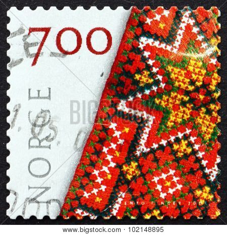 Postage Stamp Norway 2001 Embroidered Bunad