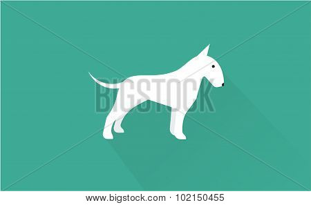 english bull terrier icon