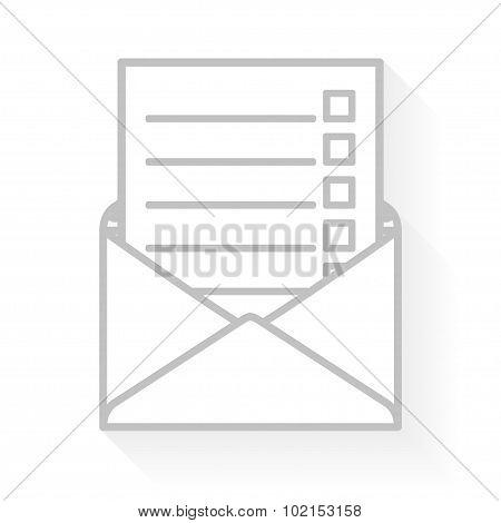 Checklist in an envelope.