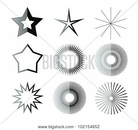 Black And White Star Shapes