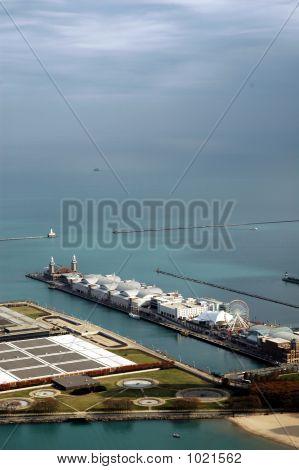 High Angle Navy Pier